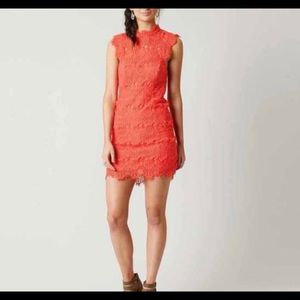 Medium NWT free people lace coral daydreamer dress
